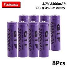 GIF 14500 перезаряжаемая литиевая литий-ионная батарея 2300 мАч 3,7 В, перезаряжаемая ячейка для фонарь, мини-вентилятор, геймпад, фонарь светодиод...