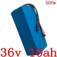 Bateria 36V 10AH 36V 250W 350W 500W bicicleta elétrica da bateria De Lítio 36V 10AH bateria com BMS e carregador 2A 15A duty free