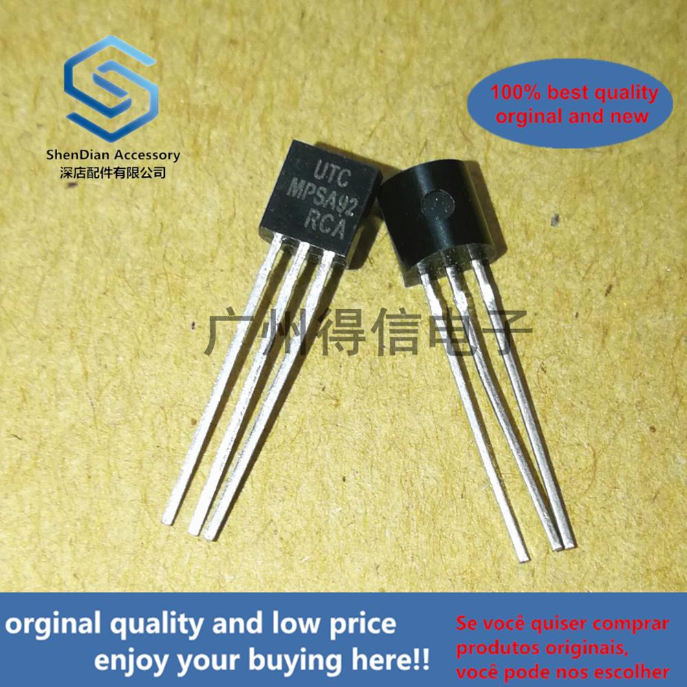 50pcs 100% Orginal New MPSA92 A92 TO-92 High Voltage Transistors(PNP Silicon) Real Photo