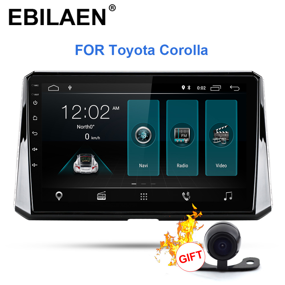 EBILAEN Car Radio Multimedia Player For Toyota Corolla 2019 2Din Android 9.0  Car Autoradio GPS Navigation Stereo Reverse Camera