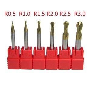 Image 4 - 6PCSทังสเตนคาร์ไบด์บอลปลายจมูกชุดเครื่องCNC Milling Cutter Ø 1 มม. 6 มม.โลหะHRC45 HRC55 HRC58 HRC62 HRC68
