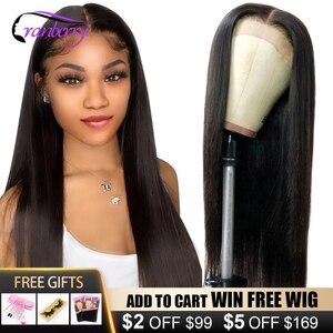 Парик из натуральных бразильских прямых волос с клюквой, парики для чернокожих женщин с застежкой 4 х4, с предварительно выщипанной линией в...