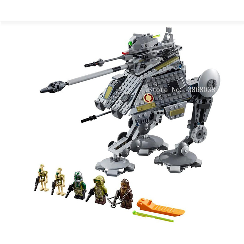 AT-AP Walker Lepining Star Wars Tie Fighter Rogue One At-st Walker Figure Building Blocks Brick Toys For 79211 75240 75261 75225