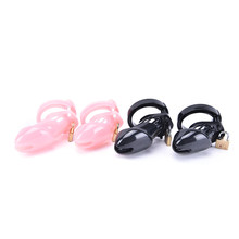 Pink Male Chastity Device With 2 Sizes Penis Ring,,Cock Ring,Cock Cages,Virginity Lock,Standard Cage /Belt,Sex Toy(China)