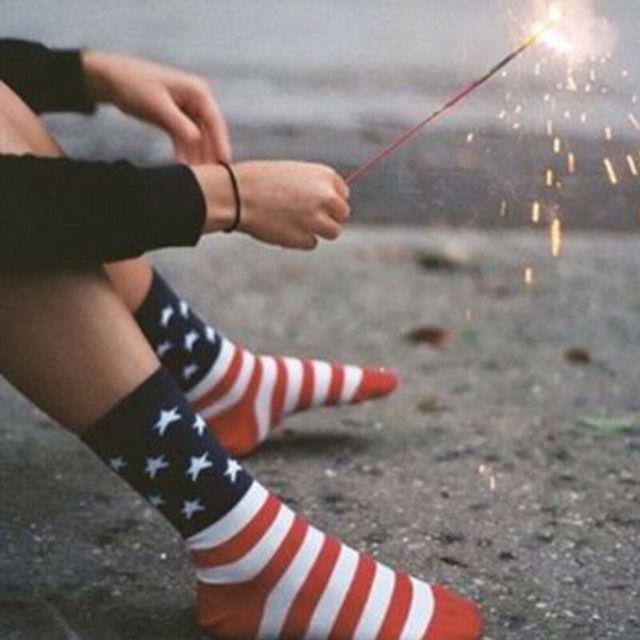Stars & Stripes USA Sock  5