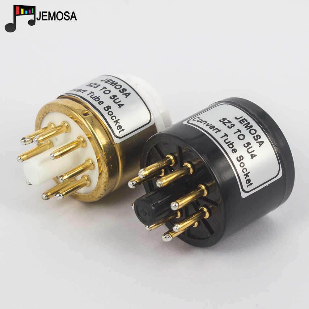 Tubo (superior) para Audio 5Z3/274A/80, 5U4G/274B/5AR4/5R4G/5Z4P (inferior), adaptador de tubo de vacío para bricolaje, adaptador de enchufe para convertidor, 1 unidad