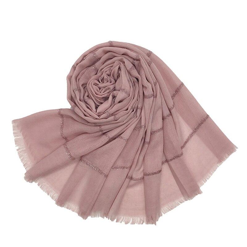 Hijab Scarf Head Musulman Muslim Wrap Foulard Glitter Islamic Cotton Femme Premium Female