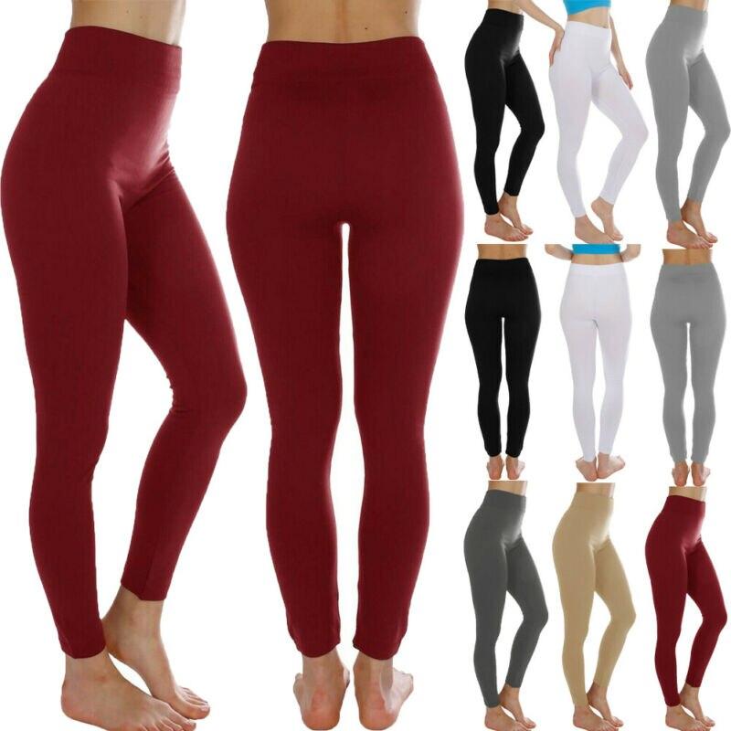 Fashion High Waist Leggings Women Fitness Workout Leggings For O Women Push Up Solid Black Red White Leggings Ladies
