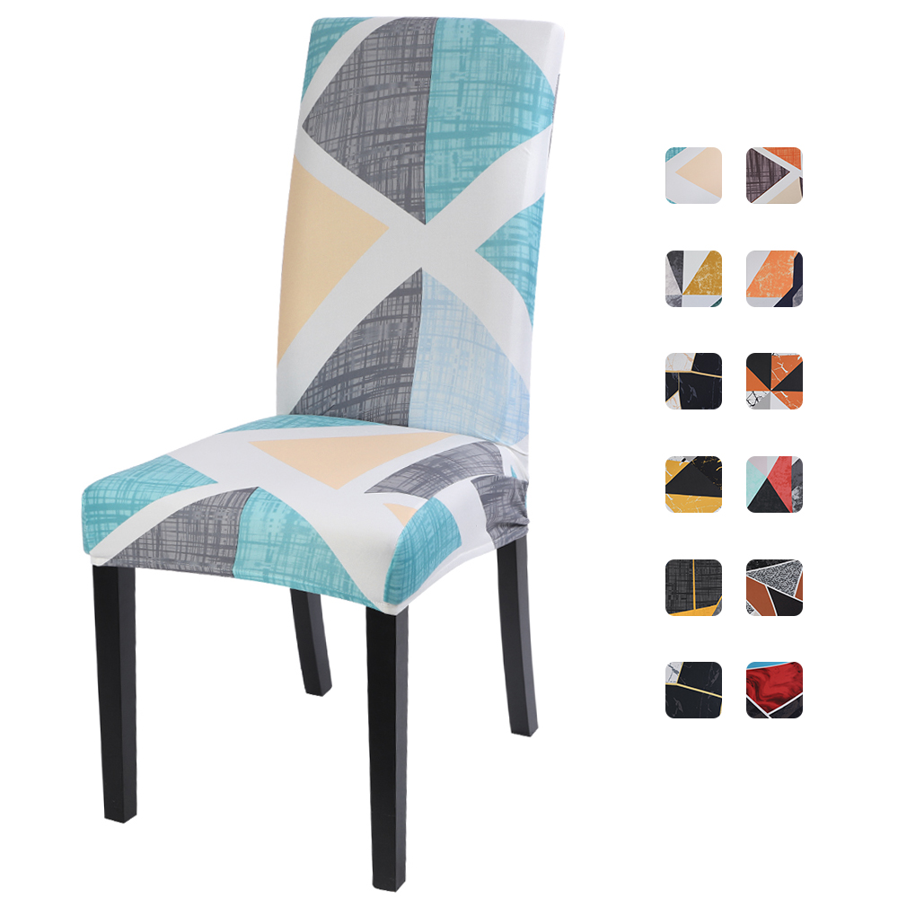1/2/4/6pc Floral Printing Spandex Stretch Elastic Removable Chair Covers Seat For Dining Room Office Wedding Banquet Chair Cover