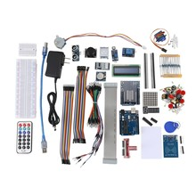 AMS-Ultimate Full Version Uno R3 Starter Learning Kit, for Arduino 1602 Lcd Servo Motor Relay Rtc 8-Segment LED Display 3.3V/5V(China)