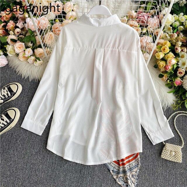 Gaganight Fashion Women Blouse Long Sleeve Irregular Elegant Office Lady Shirt Chic Casual Loose Blusas Spring Autumn New Shirts 5