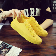 Women Vulcanize Shoes 2019 New Solid Lace-Up Casual Canvas Female Classic Autumn Breathable AELNN211