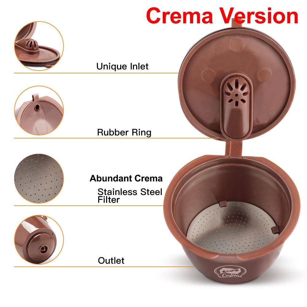 Многоразовый фильтр-капсула для кофейных капсул Nescafe dolcee Gusto из нержавеющей стали, пластиковая многоразовая корзина-капельница для кофе Dolci ...