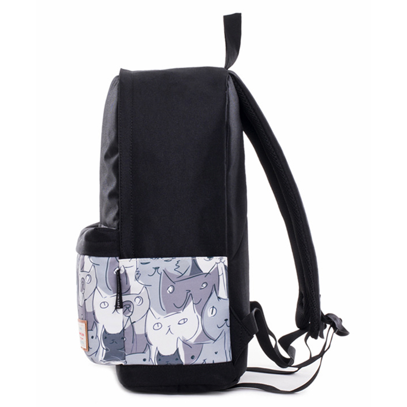 School Bag for Girl Boy Teenage Women Travel Backpack Canvas Breathable Bookbag Large Capacity Travel Laptop Daypack Cat Bagpack