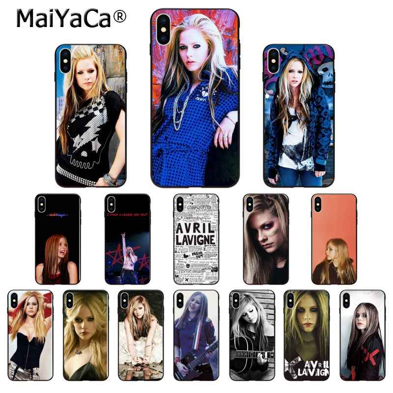 Maiyaca Avril Lavigne Hitam TPU Soft Phone Case Cover UNTUK iPhone 8 7 6 6S PLUS 5 5S se XR X XS Max Coque Shell