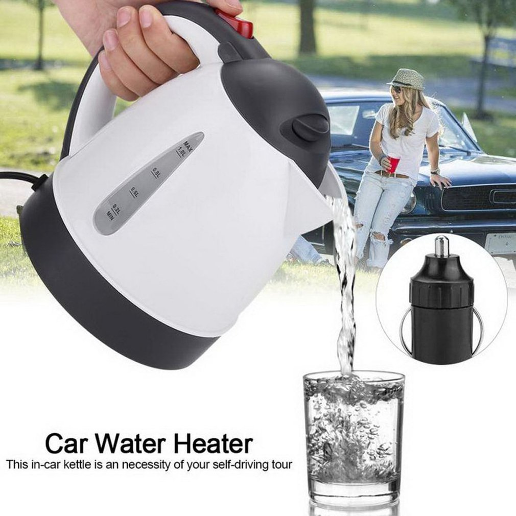 cheapest Car Electric Kettle Insulation Anti-Scald Car Travel Coffee Pot Tea Heater Boiling Water Durable Tool