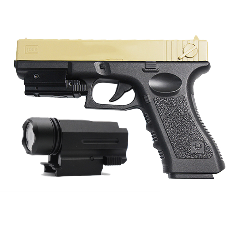 Tactical Flashlight Laser Sight For Glock 17 19 18C 20mm Rail Airsoft Pistol Light Quick Detach Handgun LED Hunting Accessories