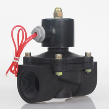 DN08/10/15/20/25/32/40/50 AC 220V DC 12V DC 24V plastik normalde kapalı selenoid vana su vanası anahtarlama vanası