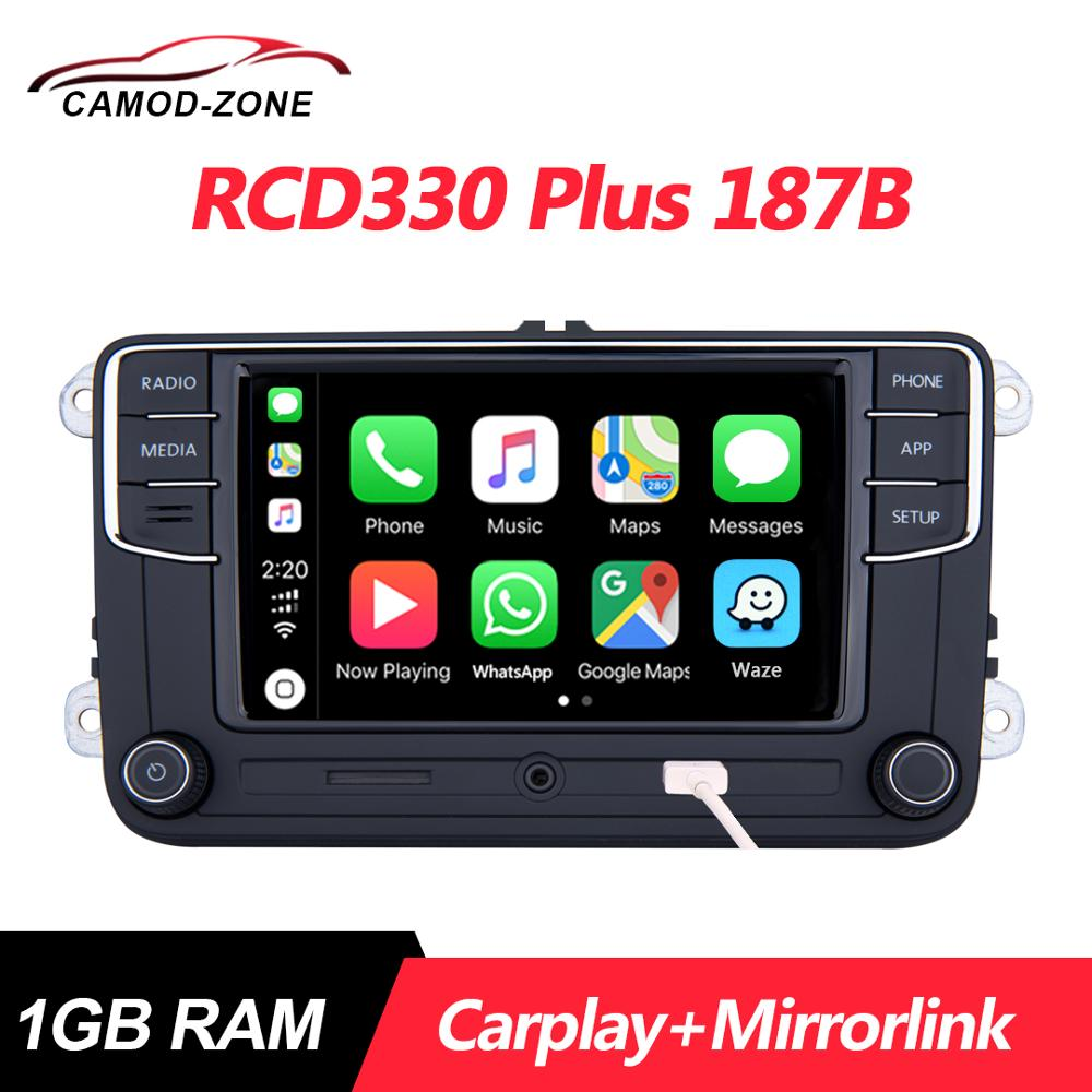 Car-Radio MIB Mirrorlink RCD330G Carplay Tiguan 187B Jetta Passat Golf 5 6RD 035  title=