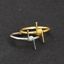 1PC Men Hip Hop Punk Ring for Women Unisex Wire Winding Metal Sliver Joint Rock Wholesale Jewelry Accessories