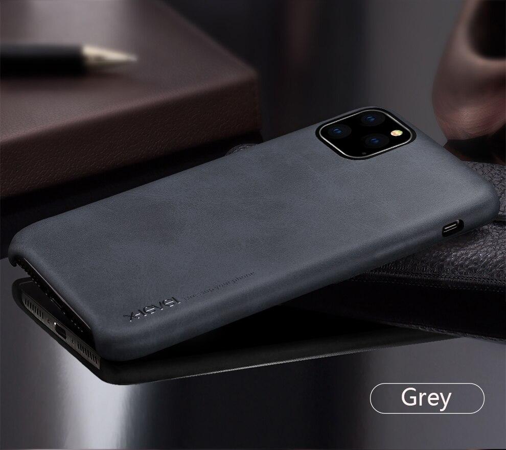 H64c881f8b76b446084d7d7ac2c109c21W X-Level Leather Case For iPhone 11 Pro Max Luxury Ultra Light Retro Back Phone Cover For iPhone 11 Pro Case Coque iPhone11
