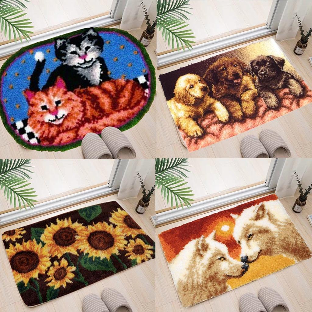 Купить набор для изготовления ковровых изделий с крючком защелкой