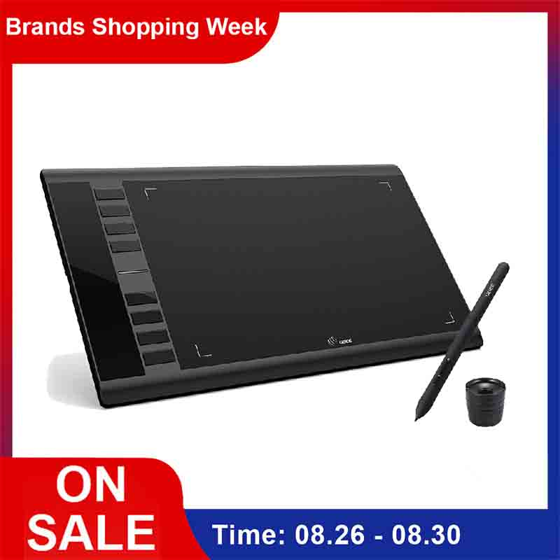 UGEE M708 mises à niveau tablette graphique 8192 niveau tablette de dessin numérique Art électronique planche à dessin 10x6 pouces zone Active