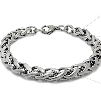 Mens Bracelet Stainless Steel Curb Cuban Silver Color Bracelet for Men Fashion Jewelry Unisex Wrist Jewelry Gifts image