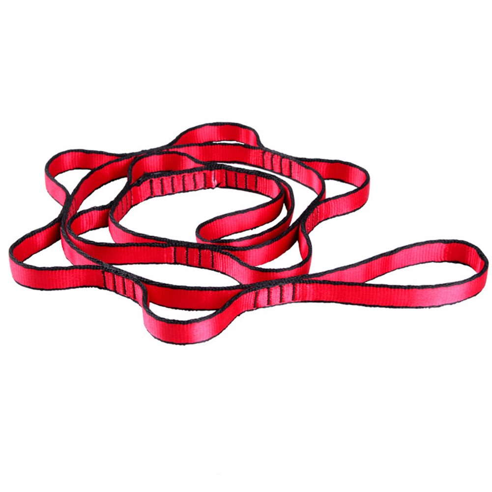 Climbing Nylon Daisy Chain Rope With Loops Yoga Hammock Hanging Strap Mountaineering Bandlet Sling 110cm