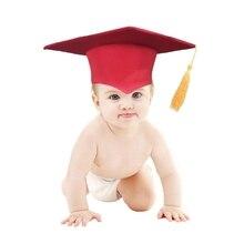 Newborn Baby Photography Props Graduation Cap for Infants Children Preschool Daycare Grad Ceremony Photo Shooting Hat
