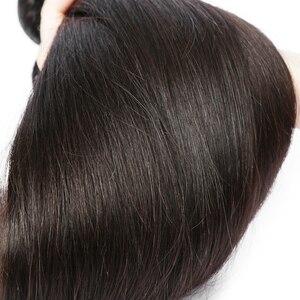 Image 3 - Rosabeauty прямые 28 30 40 дюймов 3 4 пряди с фронтальным кружевом дешевые Remy бразильские 100% человеческие волосы плетение и закрытие
