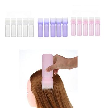 5pcs 120ml Hair Dye Bottle Professional Hair Colouring Comb Empty Hair Dye Bottle Hair Coloring Hairdressing Styling Tool tanie i dobre opinie Plastic HB05837B1