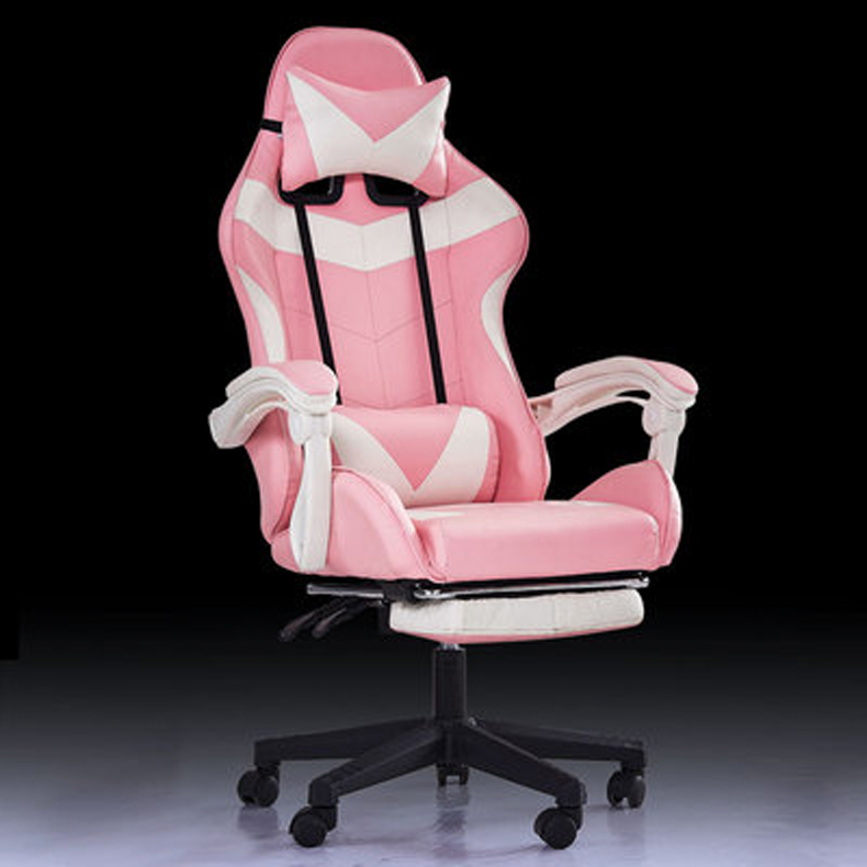 WCG Chair Gaming Chair Massage And Rocking Function Computer PU Leather Swivel Racing Style Office Chair