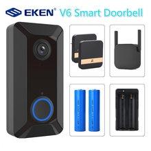 Умный беспроводной Видеозвонок v6 720p с wi fi камера для дверного