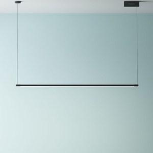 Image 1 - מינימליסטי LED תליון מנורות לסלון מסעדה שינה בית תליית מנורת נורדי אלומיניום שחור אמנות ארוך Pendnat אורות