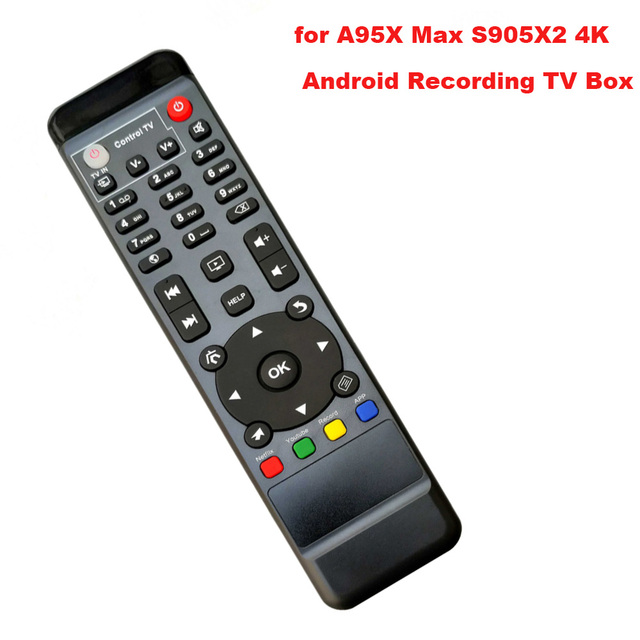 Замена пульта дистанционного управления для A95X Max S905X2 4K Android HDD Запись ТВ бокс