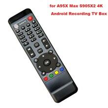 Uzaktan kumanda kontrolörü için yedek A95X Max S905X2 4K Android HDD kayıt TV kutusu