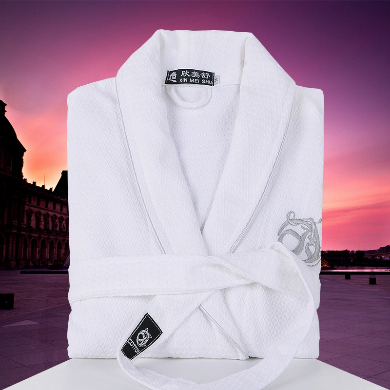 Waffle Bath Robe Men 100% Cotton Male Bathrobe Sexy Night Dressing Gown Mens Plus Size Kimono Robes Lounge Sleepwear Summer