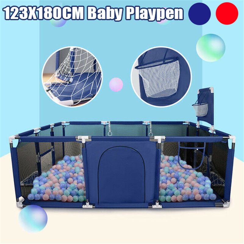 Baby Playpen For Children Pool Balls For Newborn Baby Fence Playpen For Baby Pool Children Kids Infants Folding Safety Barrier