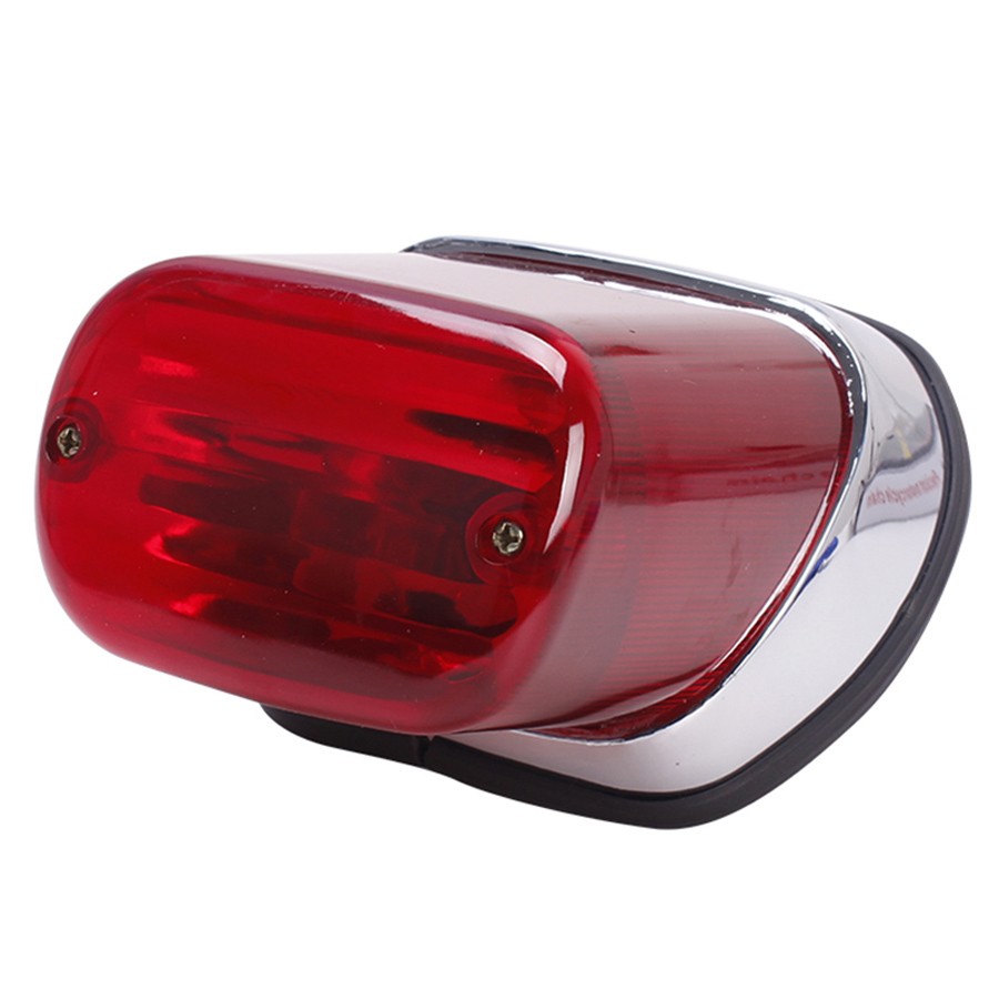 1PC ABS Red Motorcycle Rear Brake Tail Light Stop Lamp Motorbike Accessories For Yamaha Virago XV250 XV400