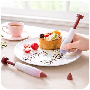 Baking Tool Food Grade Silica Gel Chocolate Jam Writing and Mounting Pen Cake DIY Graffiti Pen Milking Butter Gun(China)