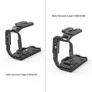 Image 3 - Blackmagic 디자인을위한 SmallRig BMPCC 4K 6K 하프 케이지 Nato Rail/Arri 위치 결정 구멍이있는 포켓 시네마 카메라 케이지/구두 2254