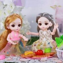Bjd Кукла 16 см 13 шарнир пластиковая Модная девочка Играть