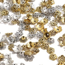 Tibetan silver color flower beads for jewelry making