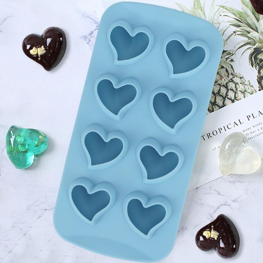 8 Grids Cake Mold Heart Shaped Cake Baking Tray DIY Non-Stick Baking Ice Cubes Mold for Kitchen Pastry Baking Accessories