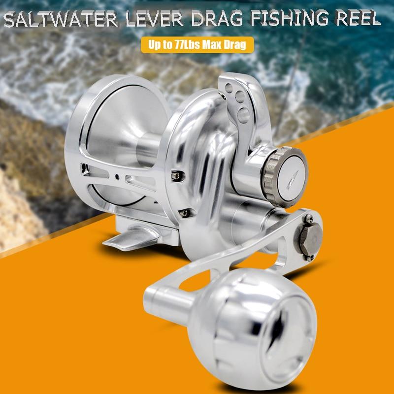 topline enfrentar lento jigging carretel de pesca roda cnc liga de aluminio metal completo lento jig