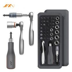 Jimi 41 em 1 chave de fenda s2 bits magnéticos chave catraca chaves de fenda kit diy ferramenta reparo doméstico