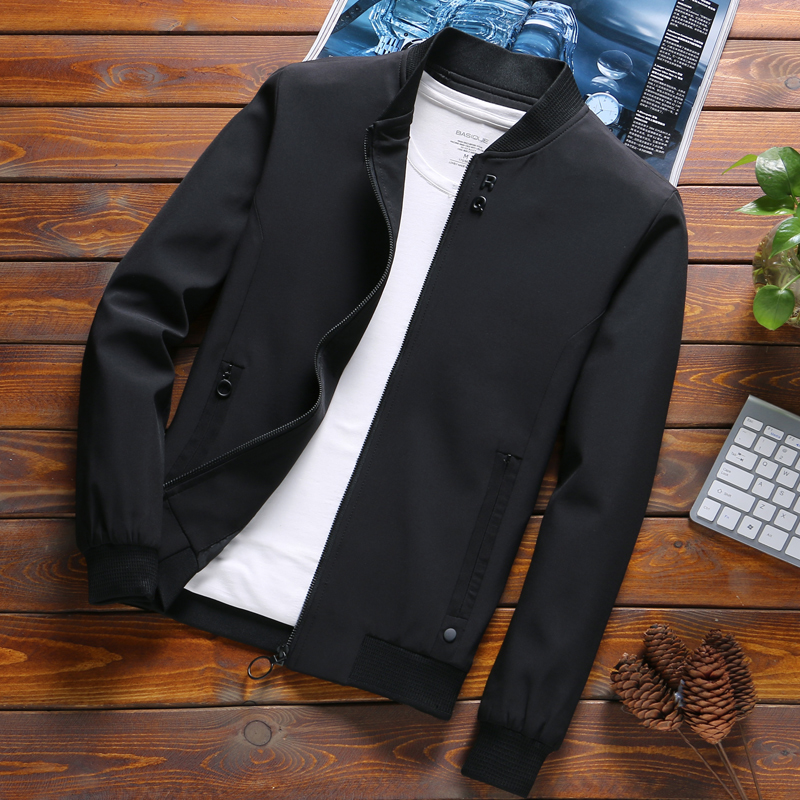 Newest Solid Autumn Mens Bomber Jackets Male Casual Zipper Summer Jacket Men Spring Casual Outwear Men Thin Jacket