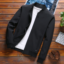 Newest Solid Autumn Mens Bomber Jackets Male Casual Zipper Summer Jack