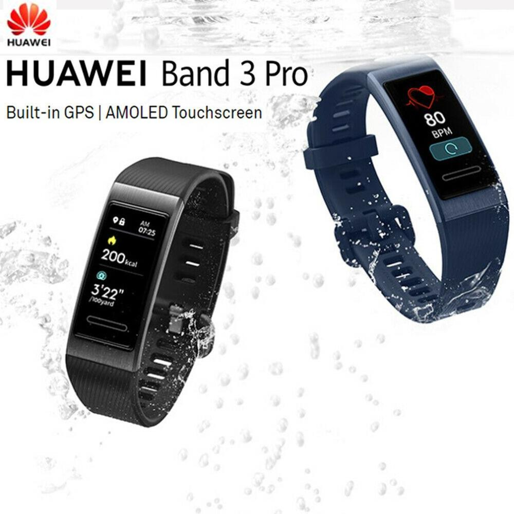 Huawei Band 3 Pro Band 3 Smart Bracelet band 3 0.95 inch Tracker Swimming Waterproof Bluetooth Fitness Tracker Touch Screen image